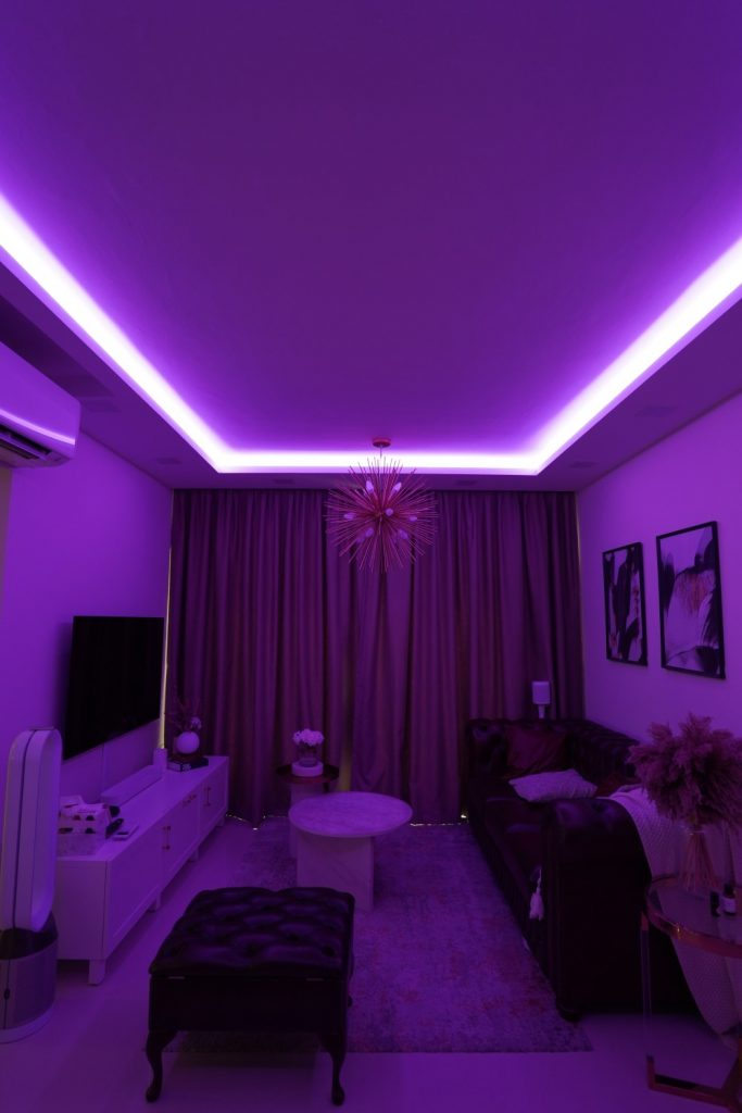 Different mood with different colours available to VIO COlourplay Halcyon smart LED Strip