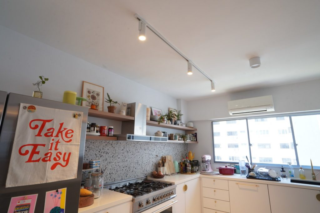 Having three spotlight is bright enough to light up a kitchen