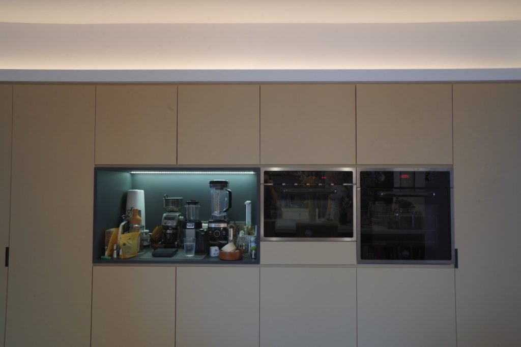 VIO Halcyon Smart LED strip installed above kitchen cove for better aesthetics