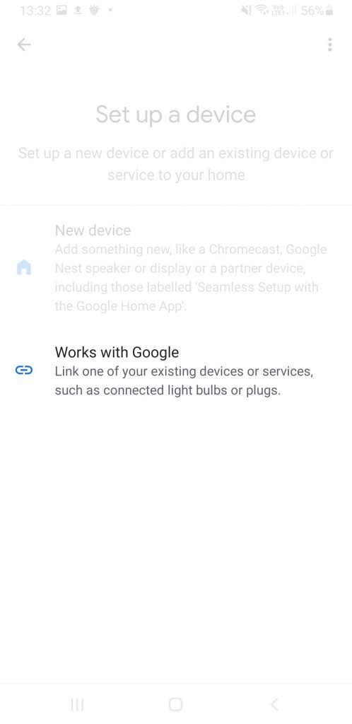 Google Assistant add device that works with Google